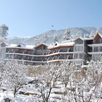 Resort exterior in winters