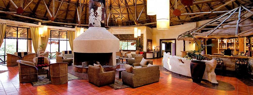 A Lounge at Ngoro ngoro Sopa Lodge