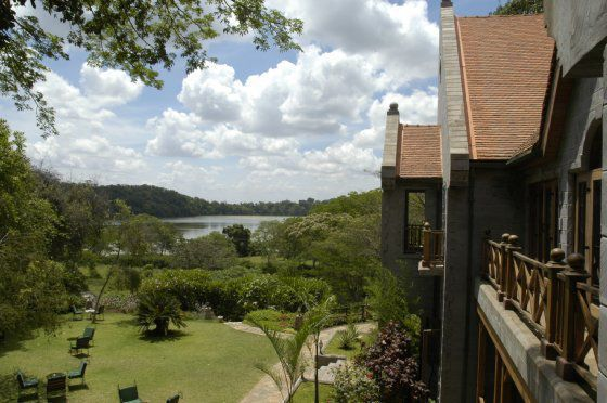 A view of Lake Duluti from Serena Mountain Village Lodge