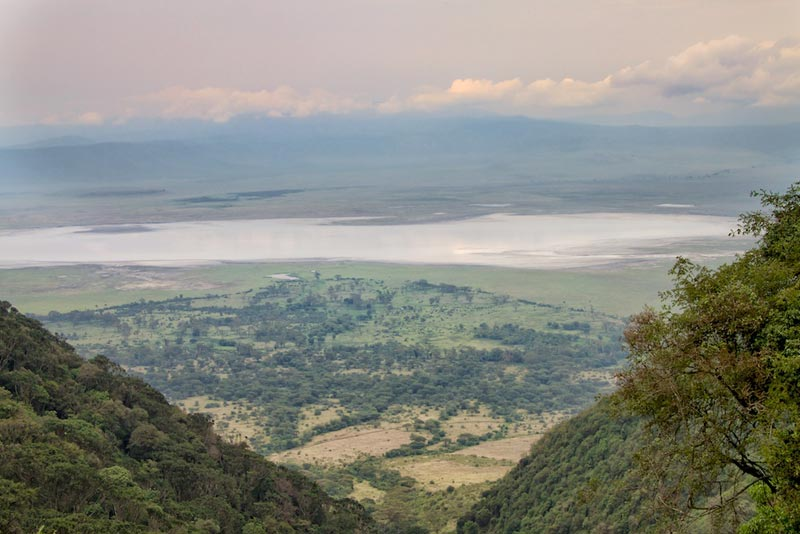 Over view of ngorongoro crater