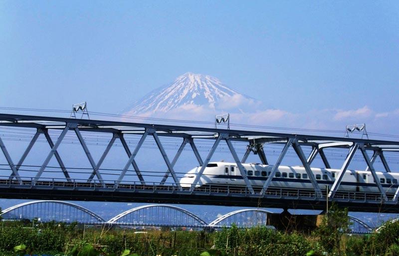 Fuji with train