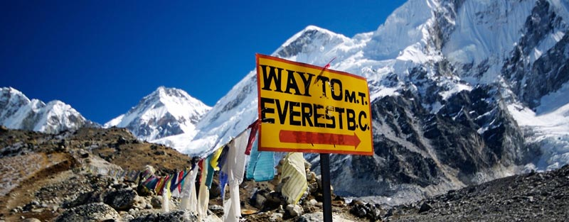 Sign for Everest Base Camp